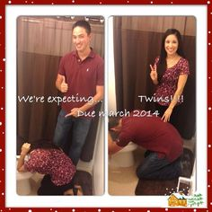 Twin Announcement Twins Announcement, Pregnancy Announcement Photos, Expecting Baby Photos, Picture Ideas, Photo Ideas, Twin Humor, That's Hilarious, Twin Boys, Second Child