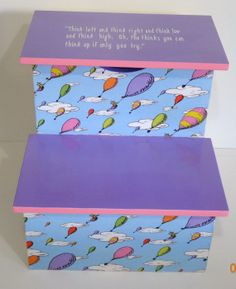 Stepstool-Oh the Places You'll Go-Dr. Seuss Inspired-Pastels on Etsy, $75.00