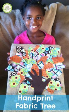 This beautiful tree requires some parent involvement but the results come out beautiful! http://www.greenkidcrafts.com/fabric-tree/
