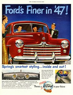 Vintage 1947 Ford advertisement