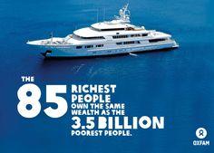 NUR X SO.......  Zitat Oxfam: In der Gruppe der Reichsten habe jeder Erwachsene ein Vermögen von 2,3 Millionen Euro. Bei ihnen hört das steile Gefälle jedoch nicht auf: Fast das gesamte Resteigentum – 46 Prozent von insgesamt 52 Prozent – liegt laut Oxfam derzeit in den Händen von 20 Prozent der Weltbevölkerung. Den verbliebenen Reichtum von etwa 5,5 Prozent würden sich die übrigen 80 Prozent der Menschheit teilen.  #reichtum #korruption #politik #armut #statistik