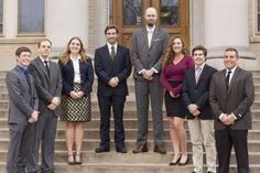 Associated Students of Colorado State University Supreme Court members (left to right) deputy chief justice Nick Dannemiller, court liaison Connor Ferguson, associate justice Celine Wolff, chief justice Rioux Jordan, sergeant at arms Duane Hansen, associate justice Allie Salz, associate justice Jake Moore, and associate justice Jacob Stein. (Photo credit: Topher Brancaccio)