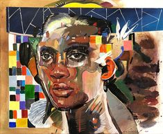 Chris Denovan | Two Sides To Her - available for sale | StateoftheART Your Paintings, Original Paintings, Canvas Size, Oil On Canvas, Contemporary Portrait Artists, Sun Painting, Africa, Fine Art, Gallery
