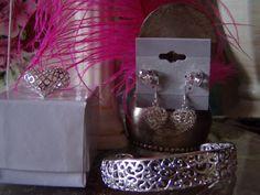 Silver Filigree Jewelry Set SPRING SALE by BijouxEtEtoffee on Etsy, $12.99