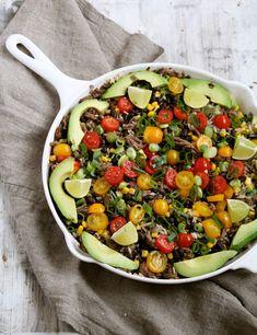 One pot wonder - lettvint gryterett - Mat På Bordet Mexican Salads, One Pot Wonders, Tex Mex, Kung Pao Chicken, Cobb Salad, Keto, Lchf, Beans, Ethnic Recipes