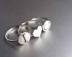 Tiny Heart Ring - Handmade Silver Ring