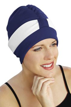 Retro Poly Two Tone Swim Turban d07c25fd2a66