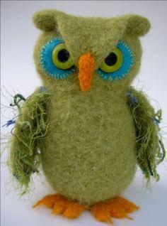 Cute felted owls