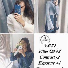 Công thức chỉnh ảnh VSCO màu xinh xinh hàn quốc