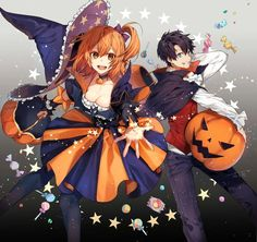Anime, manga, and video game fan-art artworks from Pixiv (ピクシブ) — a Japanese online community for artists. Anime Halloween, Halloween Tumblr, Halloween Art, Happy Halloween, Fate Zero, Fate Stay Night, Manga Art, Anime Art, Comic Character