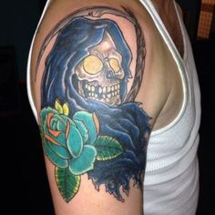 Find out Best 50 Horrible Grim Reaper Tattoos Designs and meanings 2019 collection for men and women tattoo drawing ideas to everyone ! Tattoo Designs And Meanings, Tattoo Designs Men, Fox Skull, Grim Reaper Tattoo, Skull Sleeve, Tattoo Fails, Latest Tattoos, Dark Images, Tattoo Models