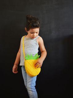 DIY Pineapple & Watermelon Felt Bags (No Sew) » Little Inspiration