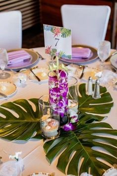 [tps_header]Today we introduce tropical wedding ideas to you. Tropical Leaves reflect a image of summer beach where the sun shines brightly and shore and ocean meet. We have plenty of tropical leaves ideas from centerpieces, place card holders. Luau Theme, Hawaiian Theme, Hawaiian Luau, Tropical Wedding Reception, Wedding Beach, Hawaii Wedding Themes, Trendy Wedding, Wedding Summer, Green Wedding