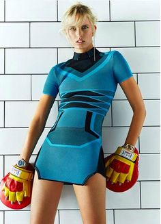Karolina Kurkova puts on the boxing gloves wearing Balenciaga, Louis Vuitton, Givenchy and more in Zack Zhang images for the June issue of Grazia China.  http://www.anneofcarversville.com/style-photos/2015/7/12/karolina-kurkova-is-powerful-big-mama-in-zack-zhang-images-f.html