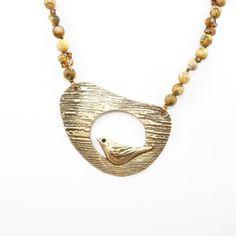 Bronze Bird Necklace