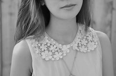 floral collar. love.