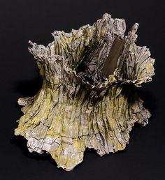 Necklace | Pawel Kaczynski.  Tree 2005.  Silver, steel, colour