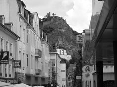 Idar Oberstein, Germany Can't wait to go back and visit where I was born! We lived in this neighborhood.we could see the Church in the Rock from our house. Travel Memories, Time Travel, The Rock, Google Images, The Neighbourhood, Waiting, Germany, Spaces, House