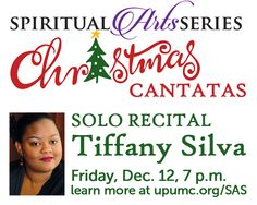 Celebrate the joy of the season with this lively concert by our very own Tiffany Silva.  She has carefully chosen these Christmas Cantatas to celebrate her faith and help us usher in the coming of Christ this Advent.  All Spiritual Arts Series concerts are free and open to the public.