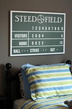 DIY Baseball Scoreboard Tutorial