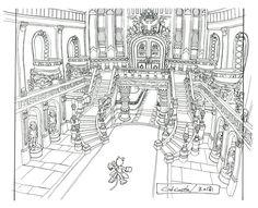 Lindblum_Castle_Throne_Room_Hallway_FF9_Art.jpg (1110×903)