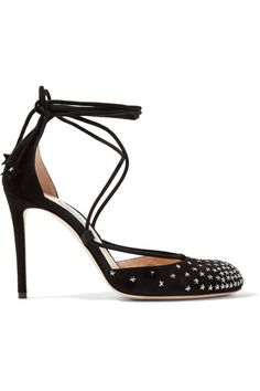 820557a54bc Jimmy Choo - Kamron Lace-up Embellished Suede Pumps - Black · Designer High  HeelsDesigner ShoesClosed Toe ...