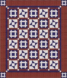 Churning stars, found on : http://www.quiltygirl.com/QuiltPatterns.html