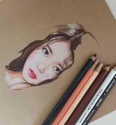 IU FanArt Color Pencil Art, People Art, Pencil Drawings, Colored Pencils, Kdrama, Chibi, Artworks, Projects To Try, Sketches
