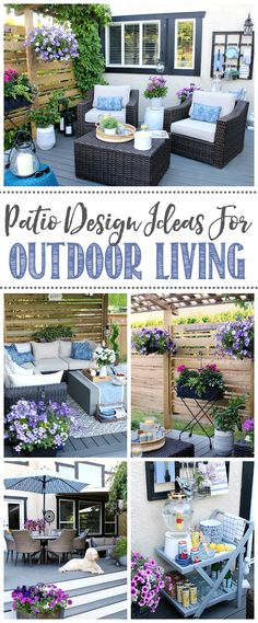 Get your patio looking its best with these simple summer patio decorating ideas. Outdoor living tips and tricks to make the most out of your space and create the backyard paradise you're looking for! Deck With Pergola, Pergola Patio, Pergola Plans, Backyard Patio, Curved Pergola, Wisteria Pergola, Patio Roof, Outdoor Spaces, Outdoor Living