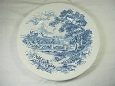 Vintage WEDGWOOD COUNTRYSIDE PLATES Dinner by LavenderGardenCottag