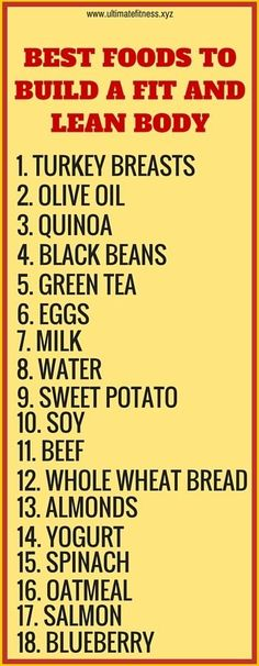 18 best foods to build a fit and lean body. Click to read why they help. #diet