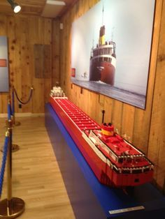 Lego model of the Edmund Fitzgerald at the Whitefish Point Shipwreck Museum. It was loaned to the museum by the man who spent eight years putting 8,000 pieces together. It is complete inside and out.