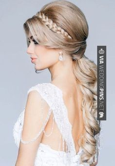 Amazing - wedding hairstyles for long hair 30 Wedding Hairstyles for Long Hair....a little less volume at the top would make this hairstyle better | CHECK OUT MORE COOL INSPIRATIONS FOR NEW wedding hairstyles for long hair AT WEDDINGPINS.NET | #weddinghairstylesforlonghair #weddinghairstyles #weddinghair #hairstyles #hair #boda #weddings #weddinginvitations #vows #tradition #nontraditional #events #forweddings #iloveweddings #romance #beauty #planners #fashion #weddingphotos