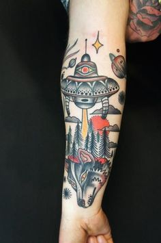 Dane Mancini Soos~Thank you for an original Native American tattoo with star   ancestors and shapeshifters, excellent work!!!
