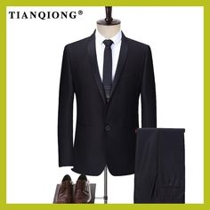 TIAN QIONG Mens Tailor-made Suit Wedding Groom Slim Fit Classic Formal  Terno 2 Piece Costume Homme Mariage( Jacket+ Pants) 1c0d802268