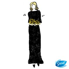 #Singer with soul. #LBD #classic #fashion #dress #sketch #illustration #drawing