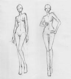 Free Fashion Croquis 11 by Azute.deviantart.com on @deviantART