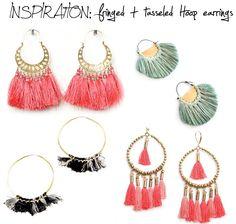 DIY INSPIRATION: fringed and tasseled hoop earrings