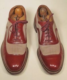 1940 50s vintage FLORSHEIM US 8.5 C Spectator mens shoes | 50s .