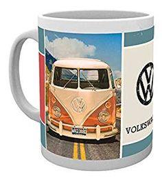 VW Bulli Foto – Keramik Tasse, weiß, bedruckt, Fassungsvermögen 320 ml, offiziell lizenziert, spülmaschinen- und mikrowellenfest #vanlife #Geschenkidee #Volkswagen (Affiliate-Link)