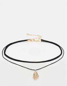 Image 2 ofASOS Multirow Feather Choker Necklace