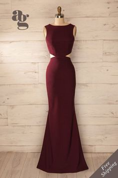 Charming Prom Dress,Burgundy Prom Dress,Sexy Backless Prom Dress,Long