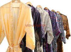 5Pcs Wholesale Lot Silk Sari Kimono Vintage Bathrobe Jacket Beach Wear Cover Up #Handmade #Kimono