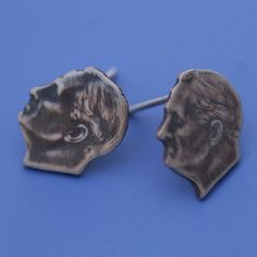 real dimes recycled into unique stud earrings!