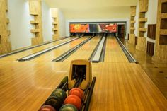 Private bowling alley - GETTY