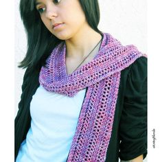 Lacy Fashion Scarf, Hand Knit Premium Hand Dyed Merino Wool Cashmere, Dusty Rose Lavender Mauve. via Etsy.