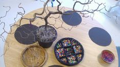 Beading tree provocation - beads and wire