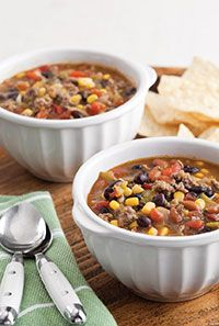 Taco Soup (I left out one can of broth, chiles, and 5 oz of enchilada sauce)
