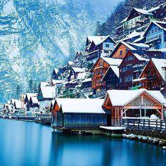 Winter in Hallstatt, Austria #EarthPix   Photography by @ilhan1077