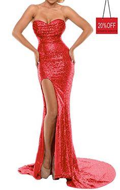 6a89314b BEAUTBRIDE Women's Sexy Mermaid Evening Dress with Slit Sequins Prom Formal  Gown BEFM01. Jessica Rabbit DressJessica Rabbit CostumeRed ...